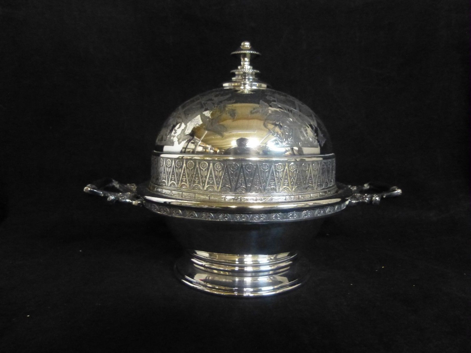 silver plated trumpet vase of vintage art deco wilcox silverplate covered butter dish complete within 2 of 12