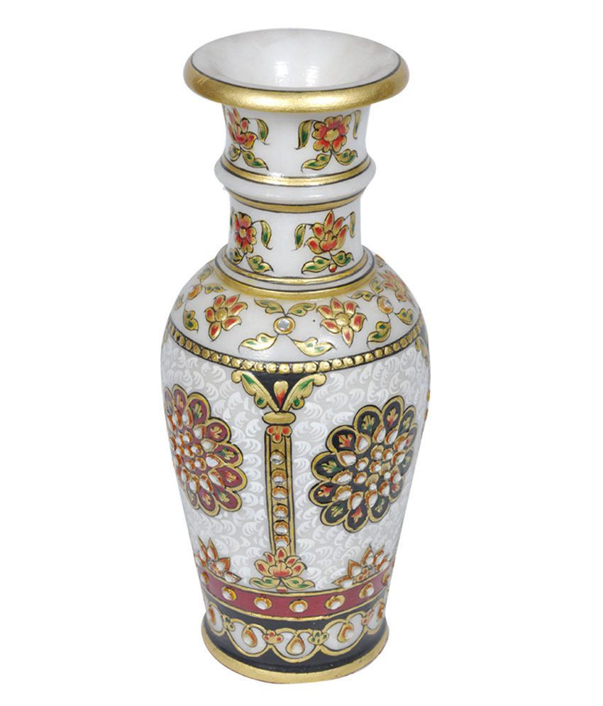 silver urn vase of chitrahandicraft multicolour marble flower vase buy for chitrahandicraft multicolour marble flower vase