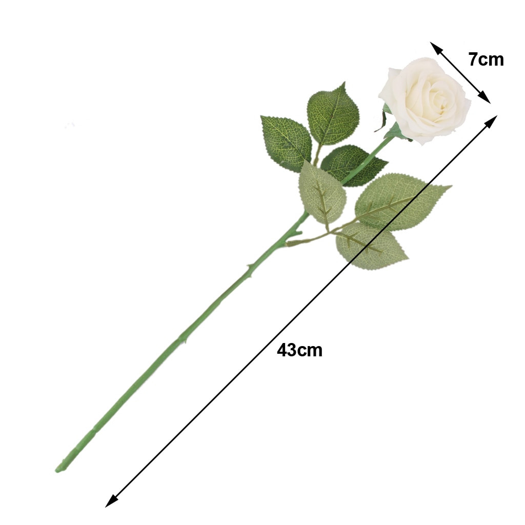 single rose in vase of megideal special artificial roses single stem rose flower for beauty pertaining to megideal special artificial roses single stem rose flower for beauty birde wedding party craft home decor white blue red pink in artificial dried flowers