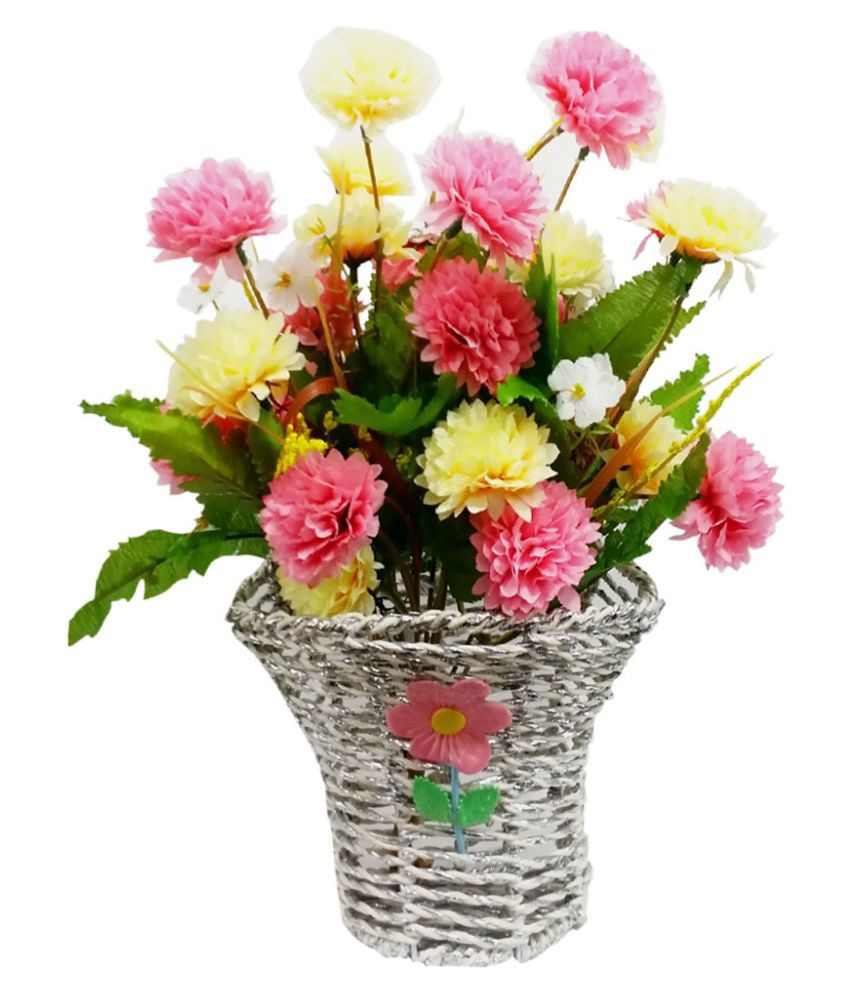 small artificial flowers in vase of rajpal collection combo of white fabric vase and artificial flowers pertaining to rajpal collection combo of white fabric vase and artificial flowers stic