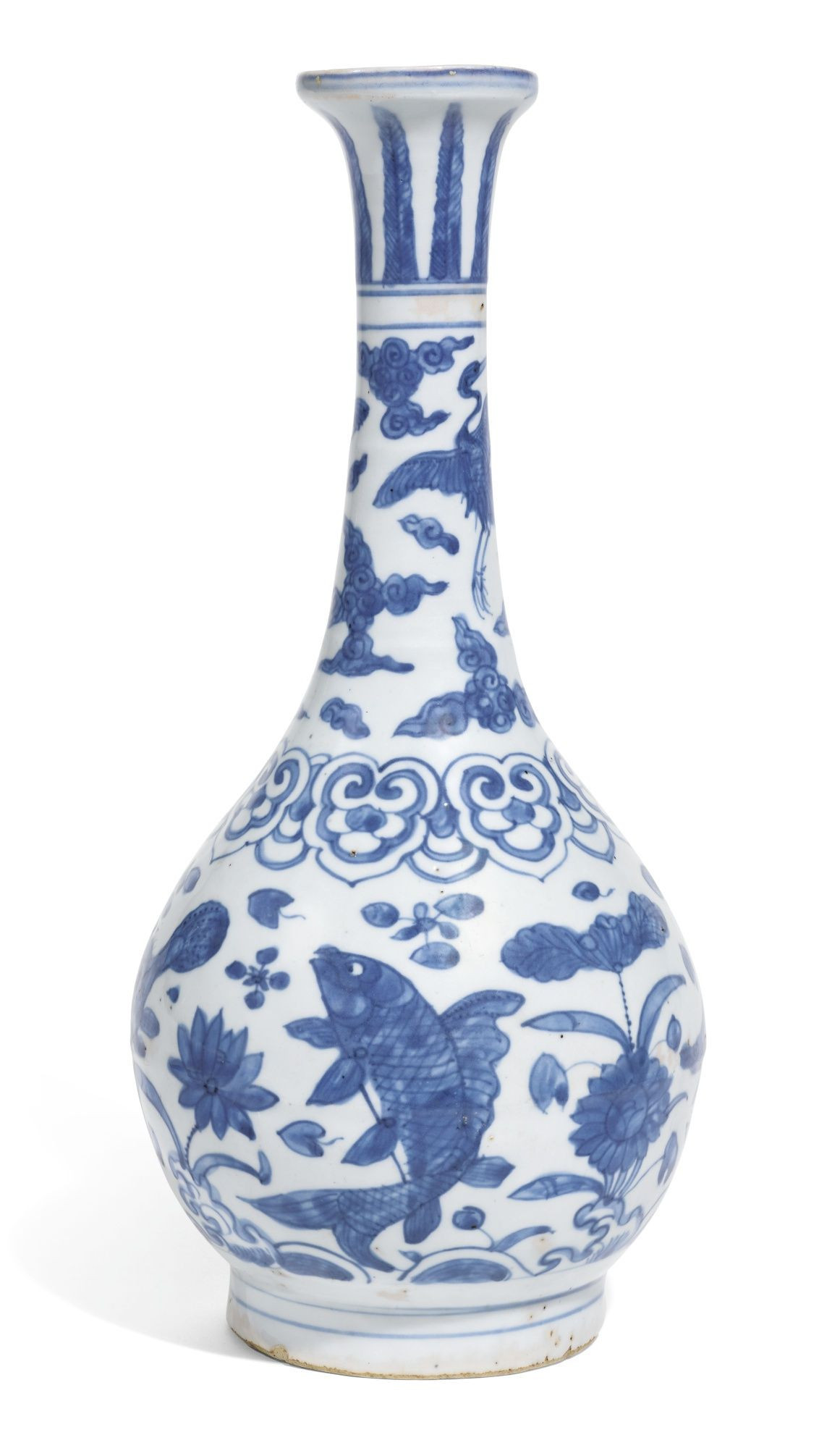 Small Chinese Blue and White Vases Of Blue and White Vases Gallery A Ming Style Blue and White Vase within Blue and White Vases Gallery A Blue and White Bottle Vase Ming Dynasty Jiajing Wanli Period