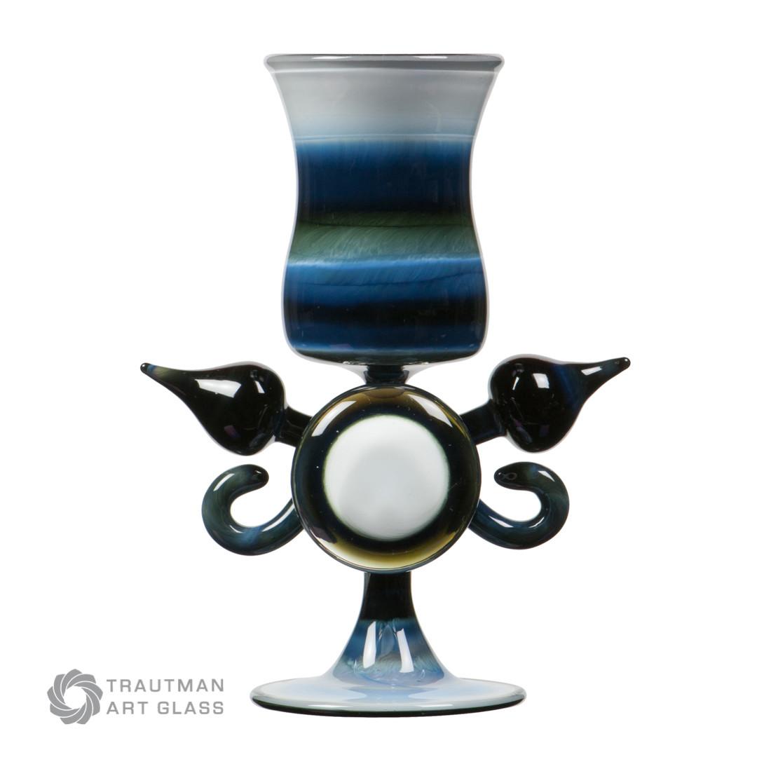 small colored glass vases of tag elvis fade to black rod elvisfadetoblack trautman art glass regarding tag fade to black rod