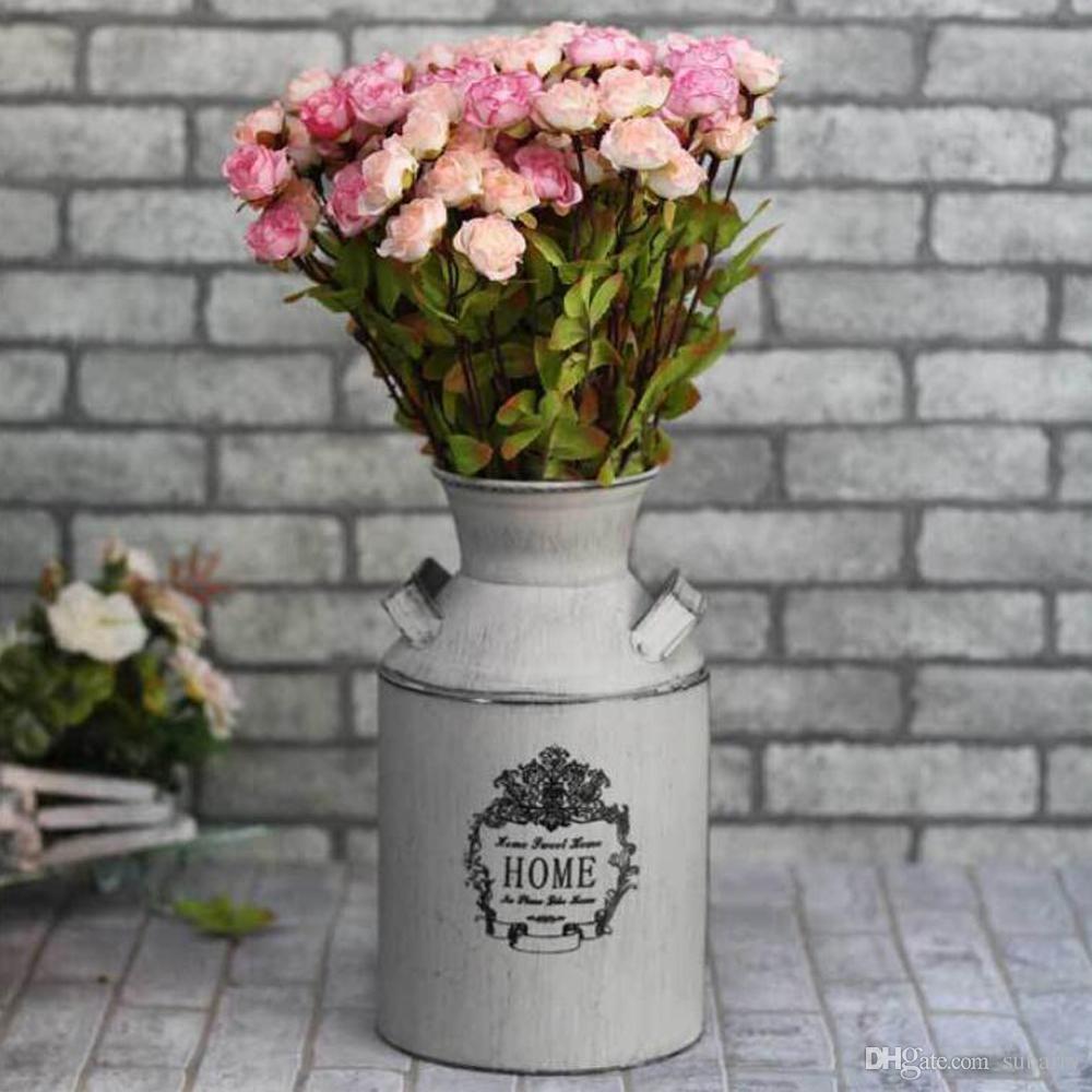 small flower vase online of elegant white country rustic primitive jug vase milk can flower vase with regard to elegant white country rustic primitive jug vase milk can flower vase for wedding party home cafe