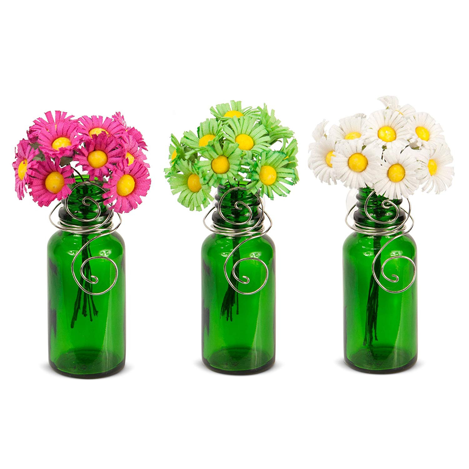 small glass bottle vases of amazon com vazzini mini vase bouquet suction cup bud bottle pertaining to amazon com vazzini mini vase bouquet suction cup bud bottle holder with flowers decorative for window mirrors tile wedding party favor get well