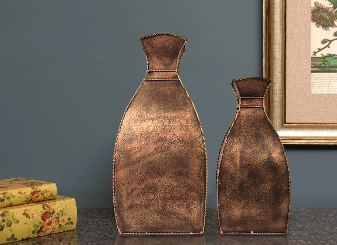 small glass bottle vases of antique vase online small decorative glass vases from craftedindia within square shape metal showpiece pots