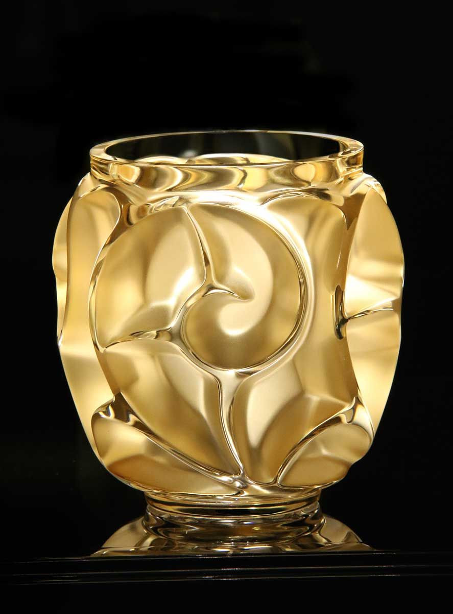 small metal flower vases of lalique tourbillons gold luster vase small rene lalique regarding lalique tourbillons gold luster vase small