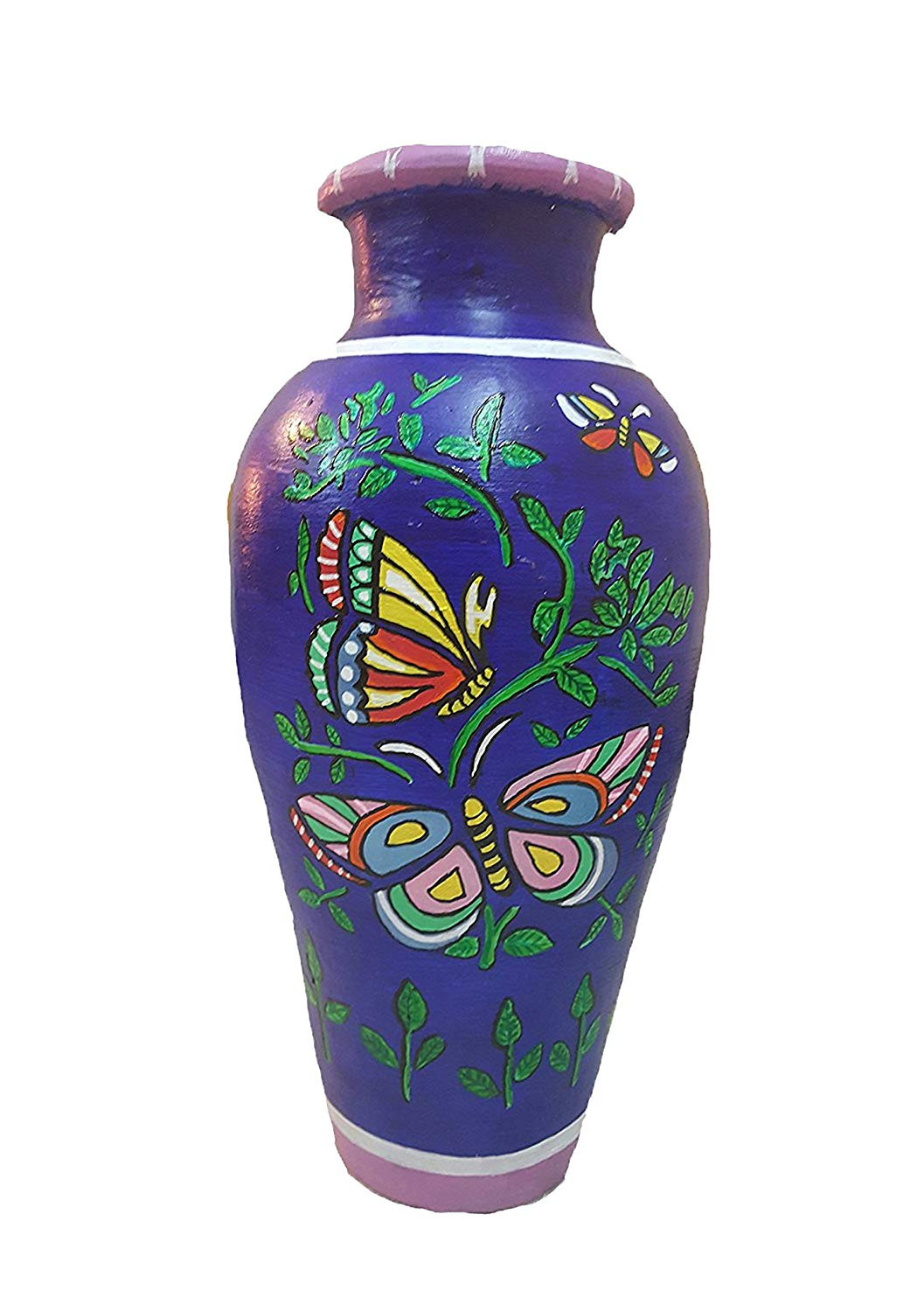 small terra cotta vases of buy shree fine arts butterfly hand painted terracotta vase large throughout buy shree fine arts butterfly hand painted terracotta vase large online at low prices in india amazon in