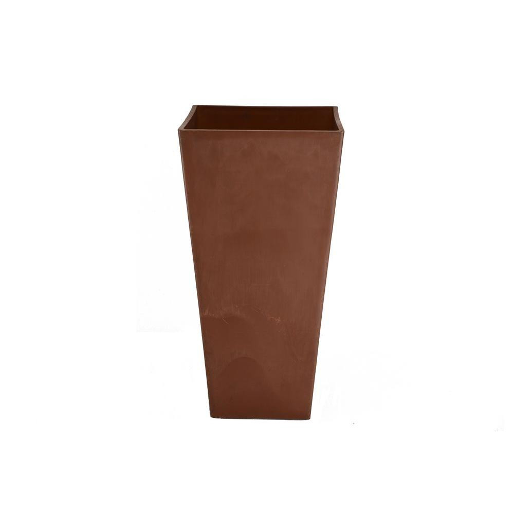 small terra cotta vases of terra cotta drainage holes nursery pots planters the home depot inside contempo tall square 16 in x 16 in x 32 in