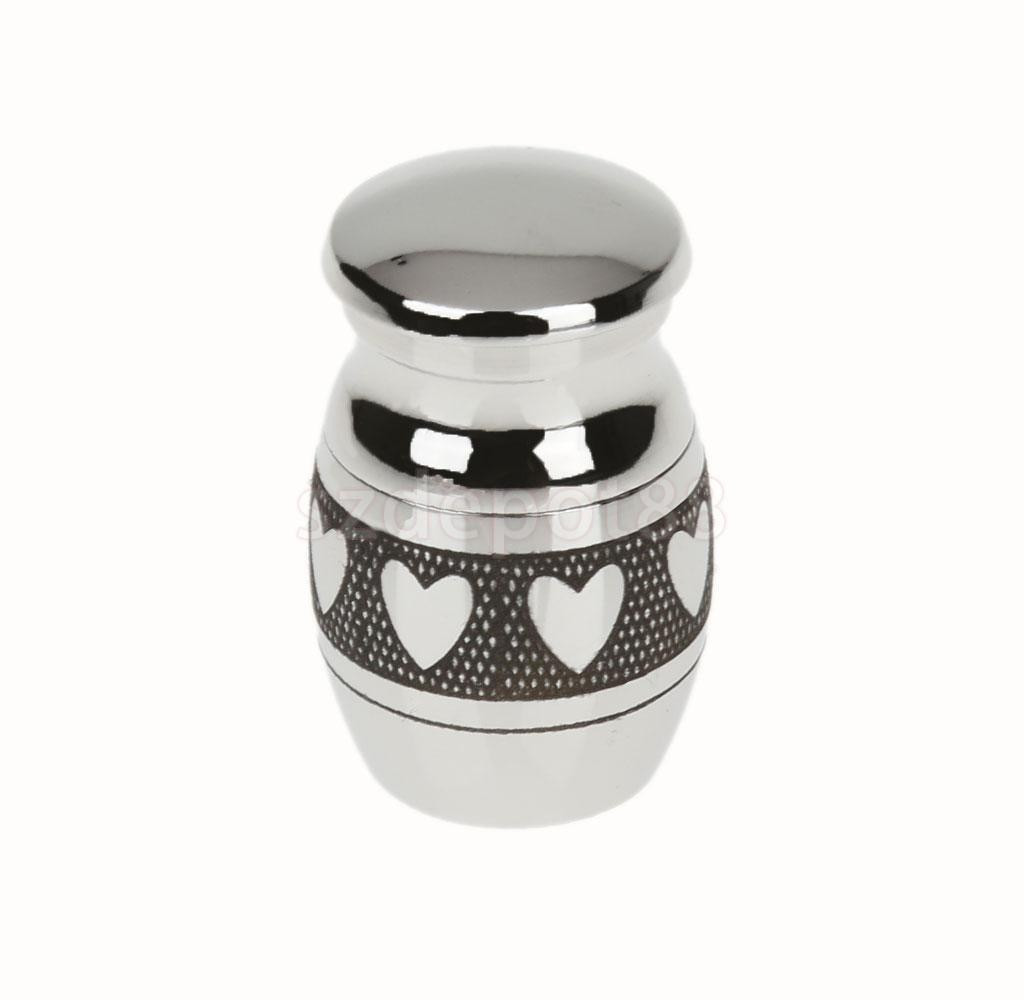 small urn vase of 2 pieces mini keepsake urn miniature funeral cremation urn pet ashes pertaining to heart pattern stainless steel cremation urn ash holder memorial container pendant jewelry