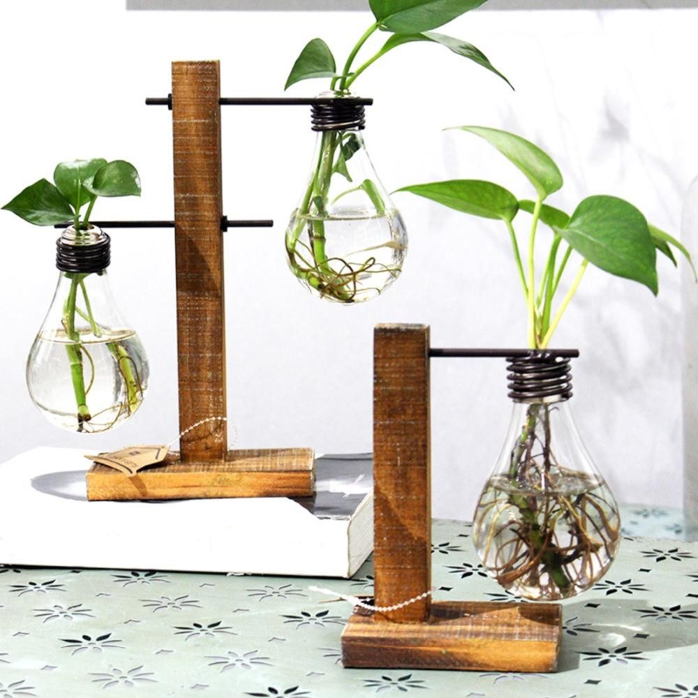 small vases for sale of vintage style glass tabletop plant bonsai flower wedding decorative in vintage style glass tabletop plant bonsai flower wedding decorative vase with wooden l t shape tray home decoration accessories cheap small glass vases