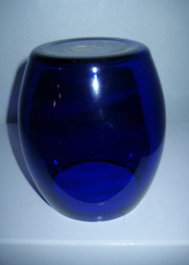 small vintage glass vases of vase or candle holder vintage hand crafted cobalt blue glass by aac throughout next
