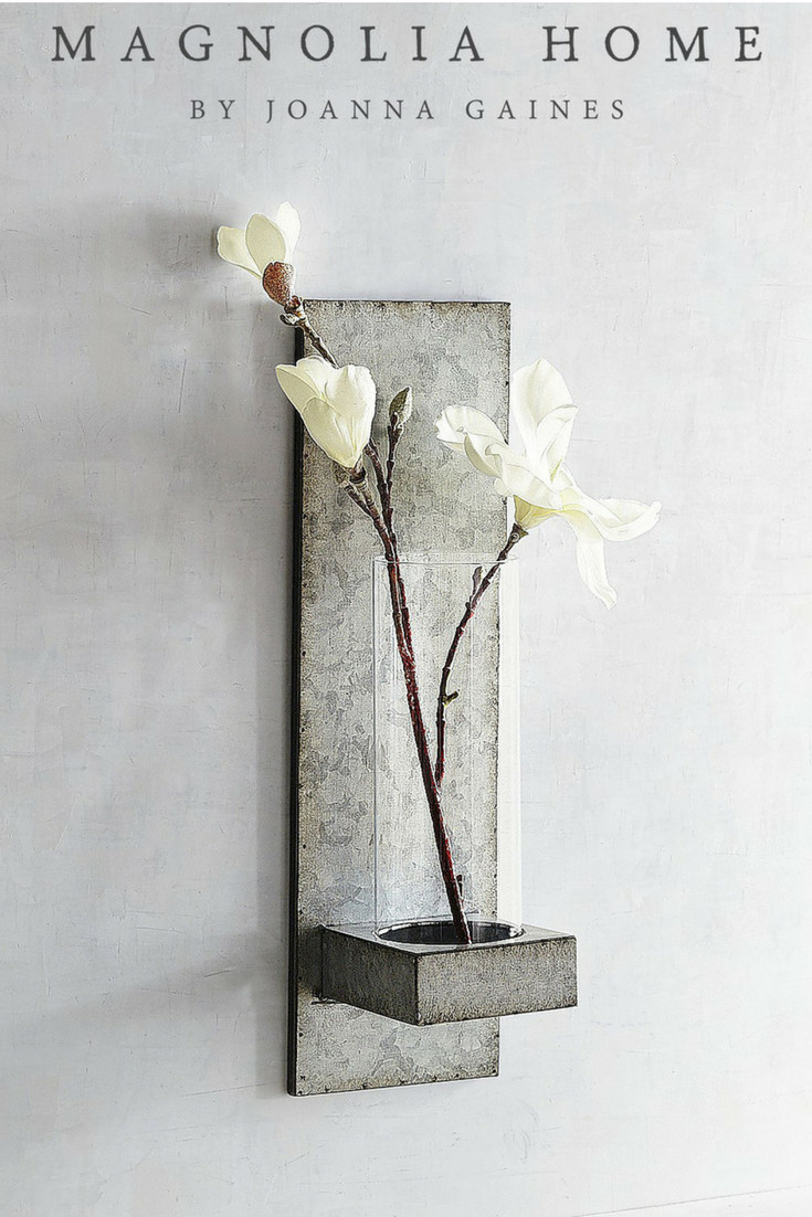 small wall mounted vases of magnolia home galvanized hanging vase sconce fixerupper farmhouse regarding magnolia home galvanized hanging vase sconce fixerupper farmhouse sconce ad