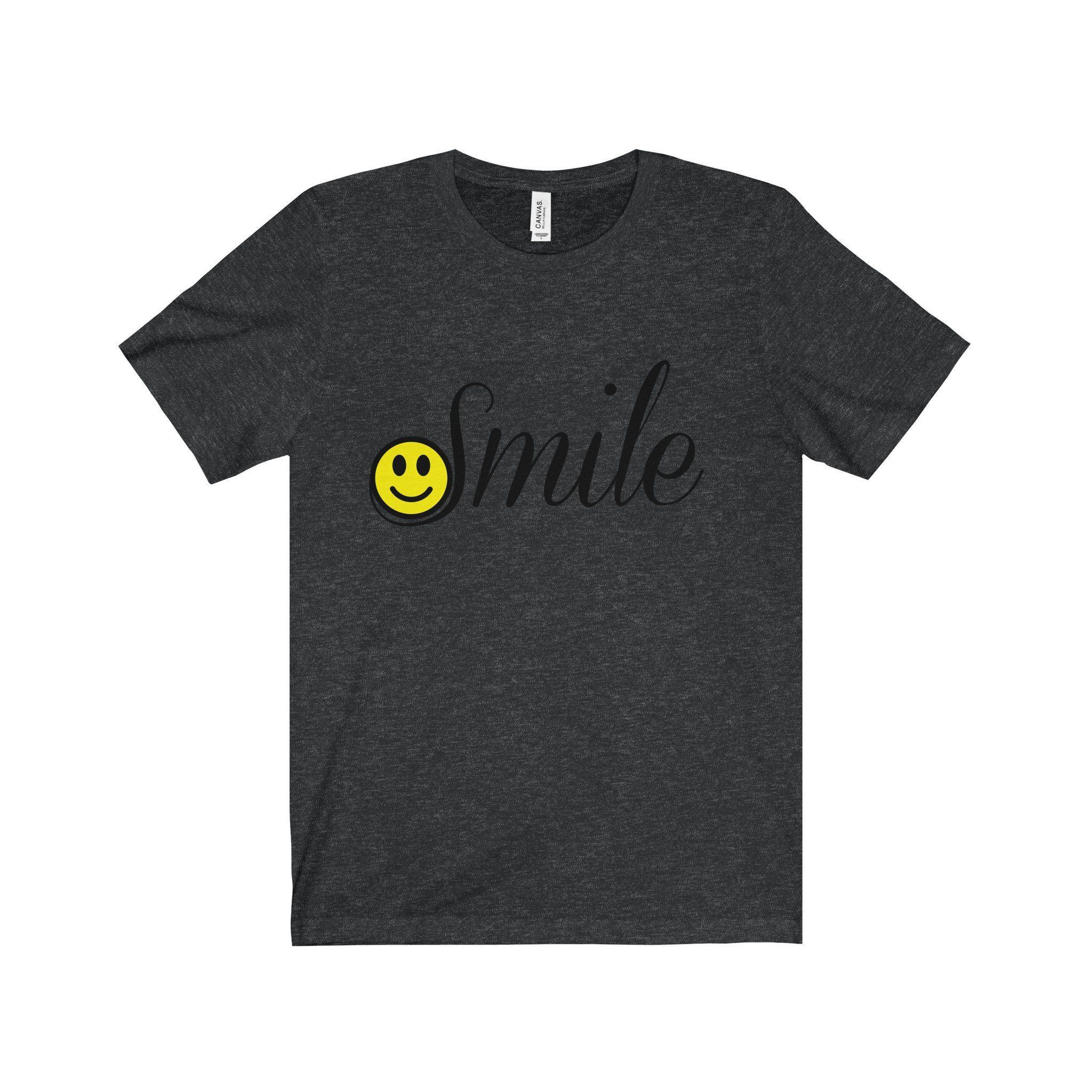 smiley face vase of smile happy face black letter tee 7 colors available pinterest with regard to every single opportunity you get smile it helps brighten the world this t shirt features a yellow smiley face on the s in the word smile usually