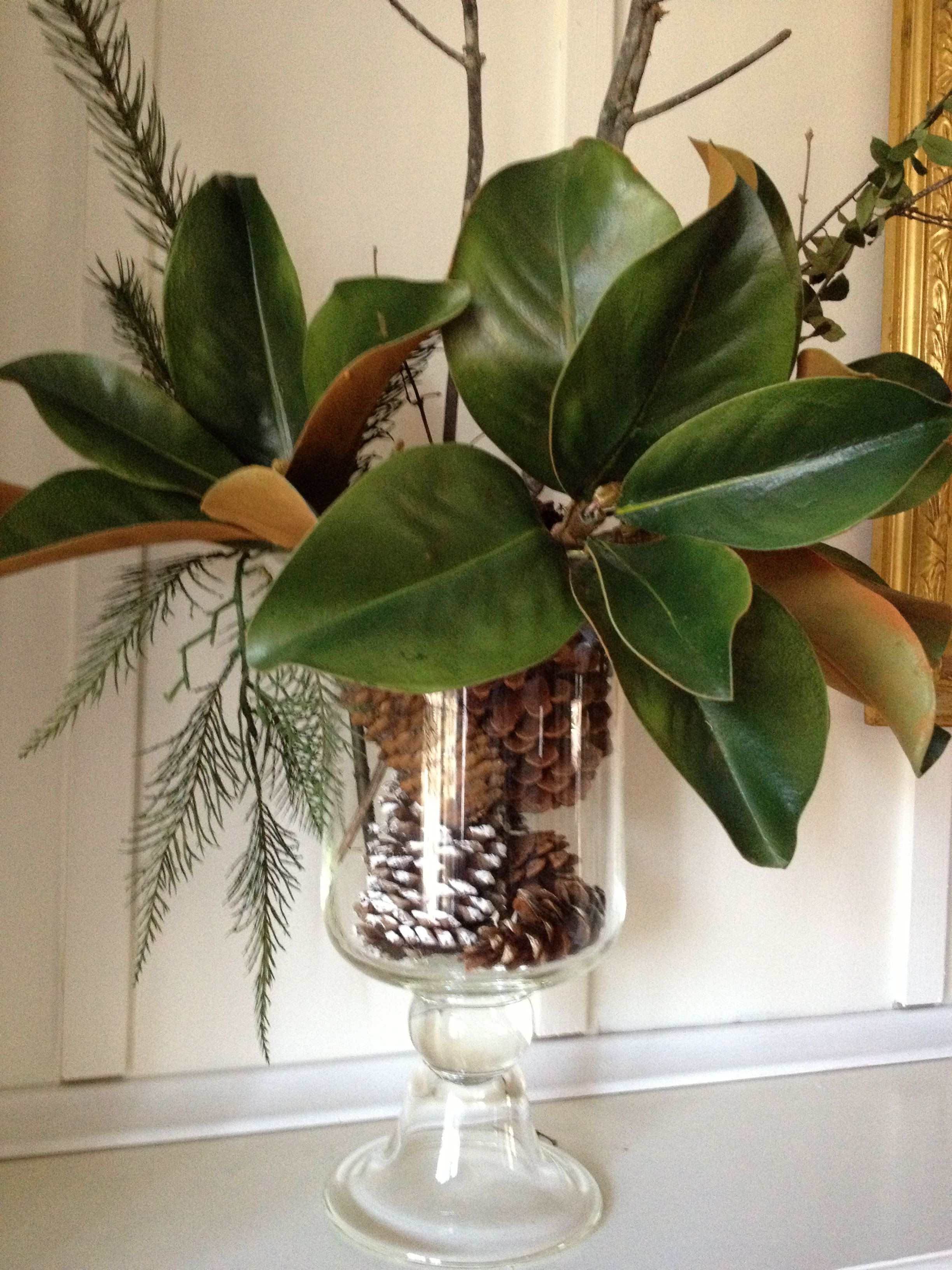 Southern Living at Home Vase Of Easy Holiday Arrangement Love the Magnolia Leaves Wedding with Regard to Easy Holiday Arrangement Love the Magnolia Leaves Wedding southern Christmas
