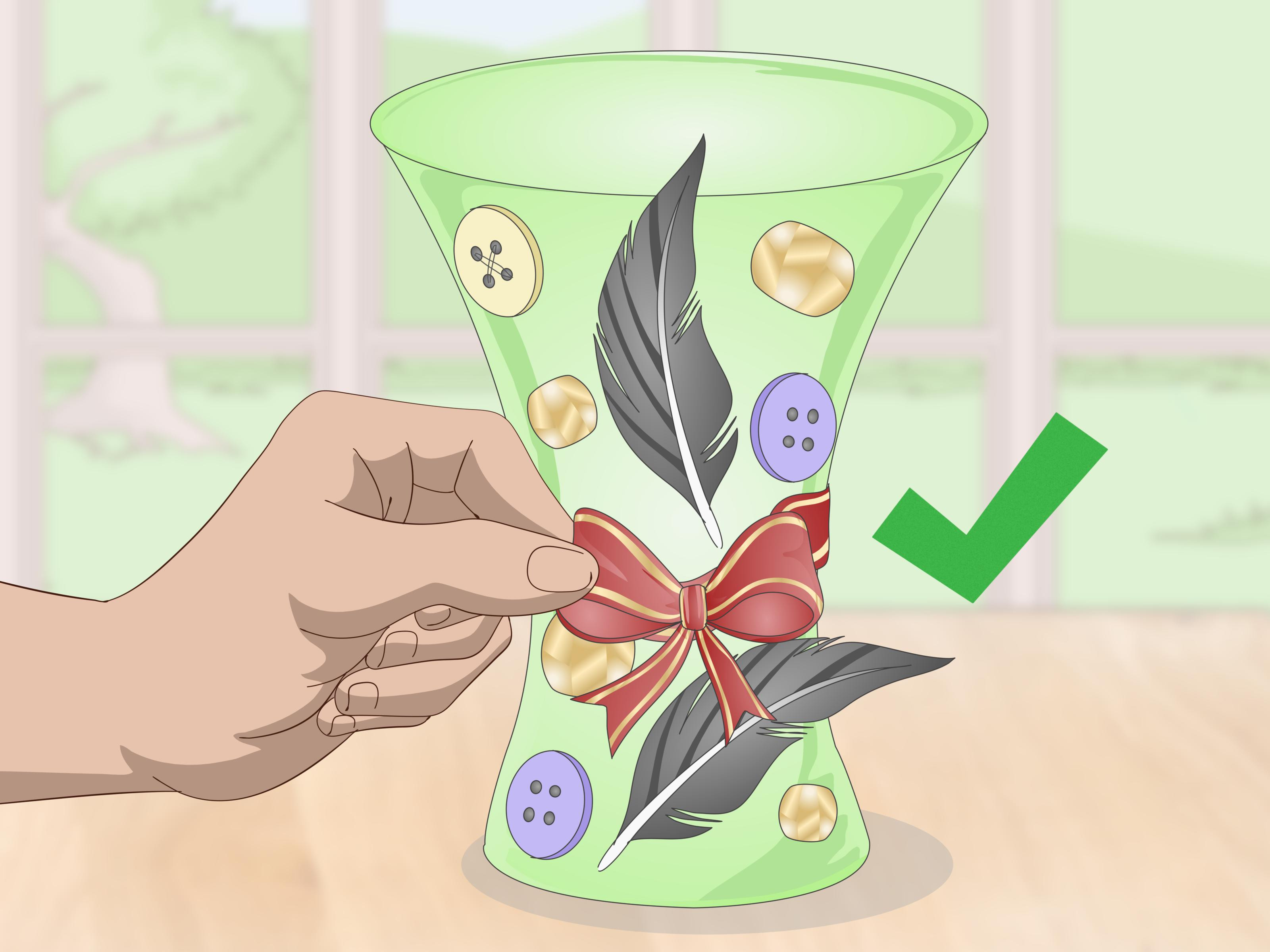 square glass bud vase of 3 ways to decorate a flower vase with a ribbon wikihow for decorate a flower vase with a ribbon step 14
