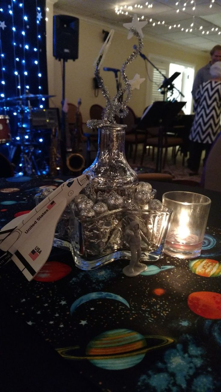 Square Glass Vase Hobby Lobby Of 20 Best Hakuna Matata Party Images On Pinterest Hakuna Matata with Regard to Space theme Party Decor Space Shuttle From oriental Trading Star Glass Bowl From Dollar Tree Vase From athome Shooting Stars Made Out Of Silver Pipe