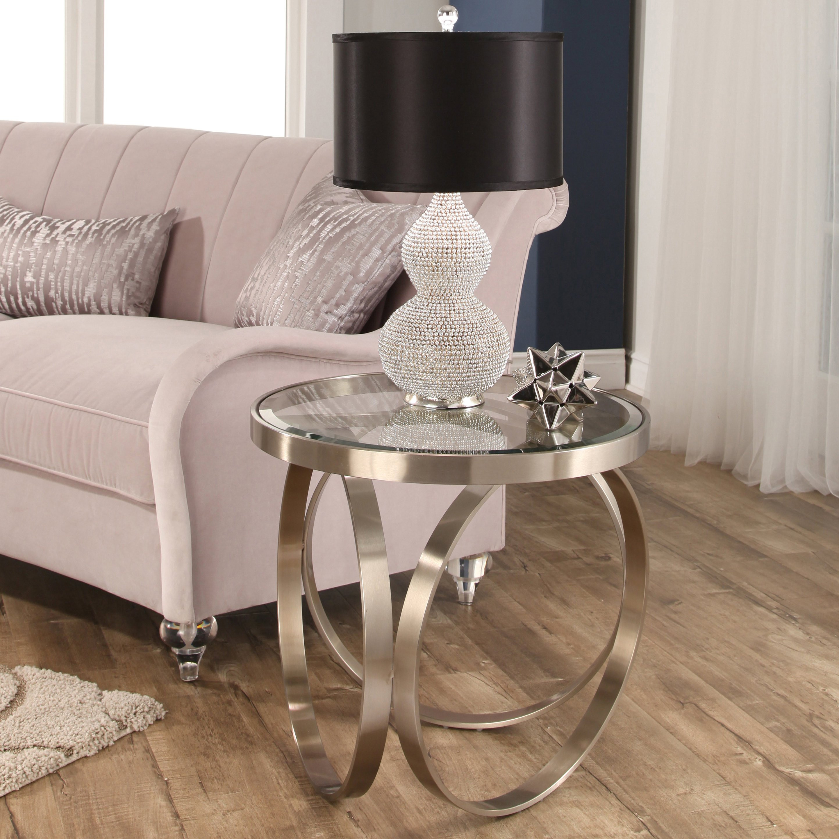 stainless steel floor vase of shop abbyson pearl silver stainless steel end table on sale free with regard to shop abbyson pearl silver stainless steel end table on sale free shipping today overstock com 15069914