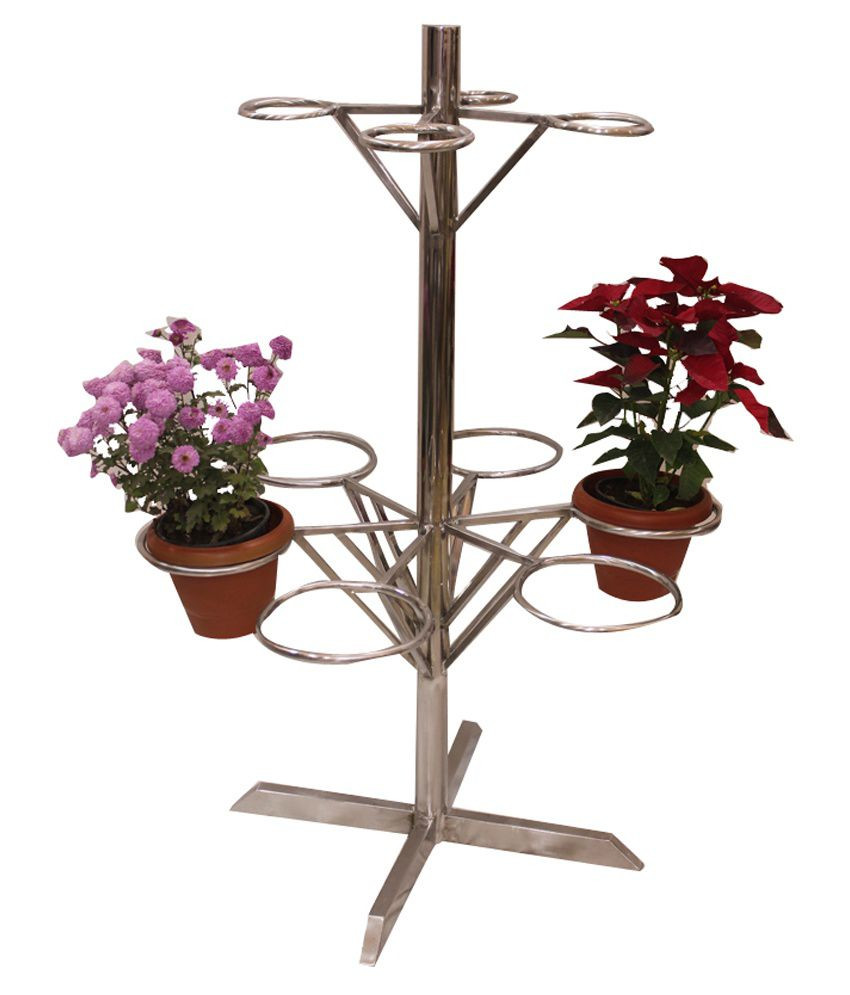 stainless steel vase of steelwise stainless steel flower pot stand 6 feet buy steelwise regarding steelwise stainless steel flower pot stand 6 feet