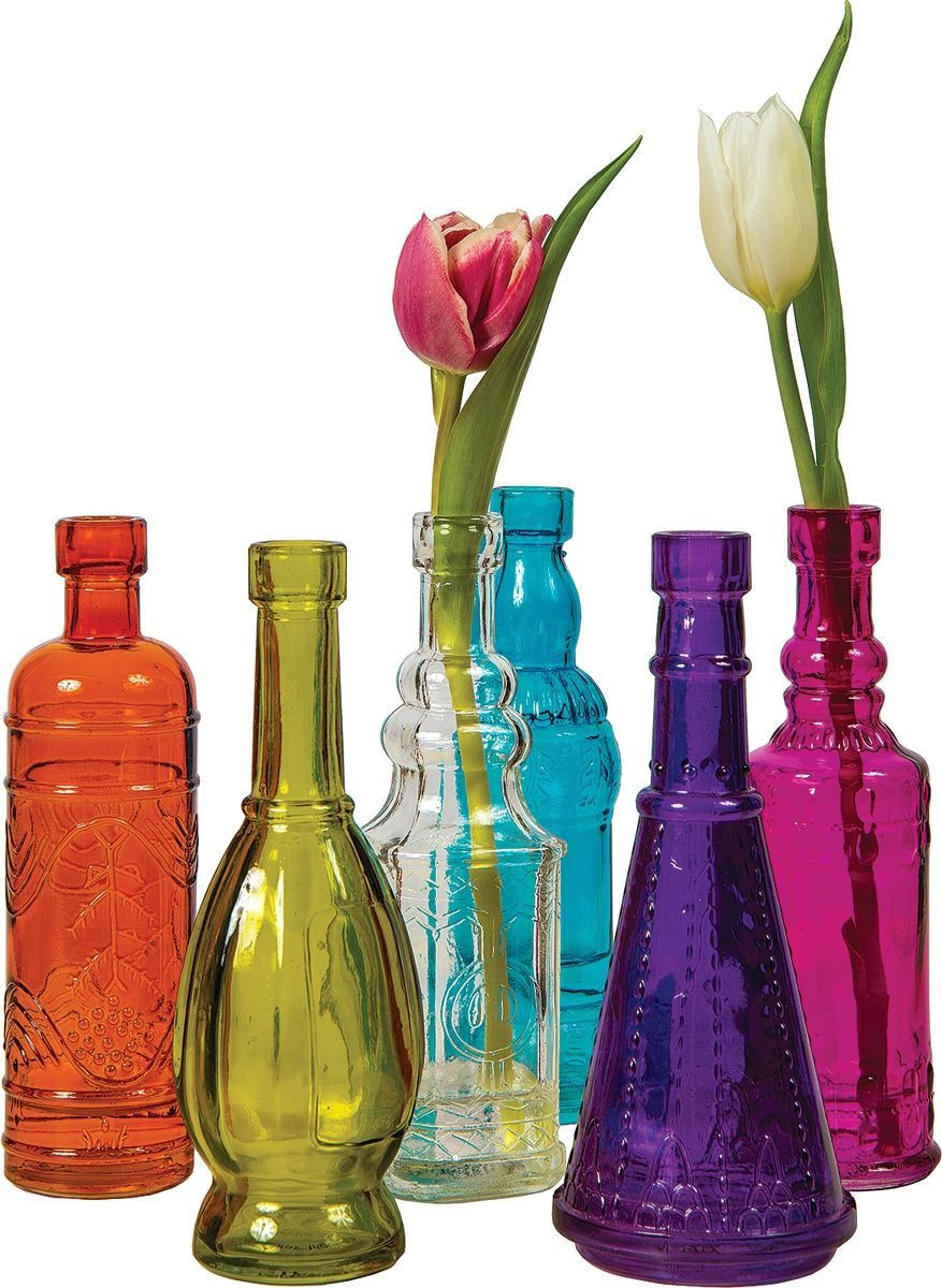 standing glass bottle vase runner set of multicolor cheyenne glass bottle set products pinterest glass pertaining to multicolor cheyenne glass bottle set