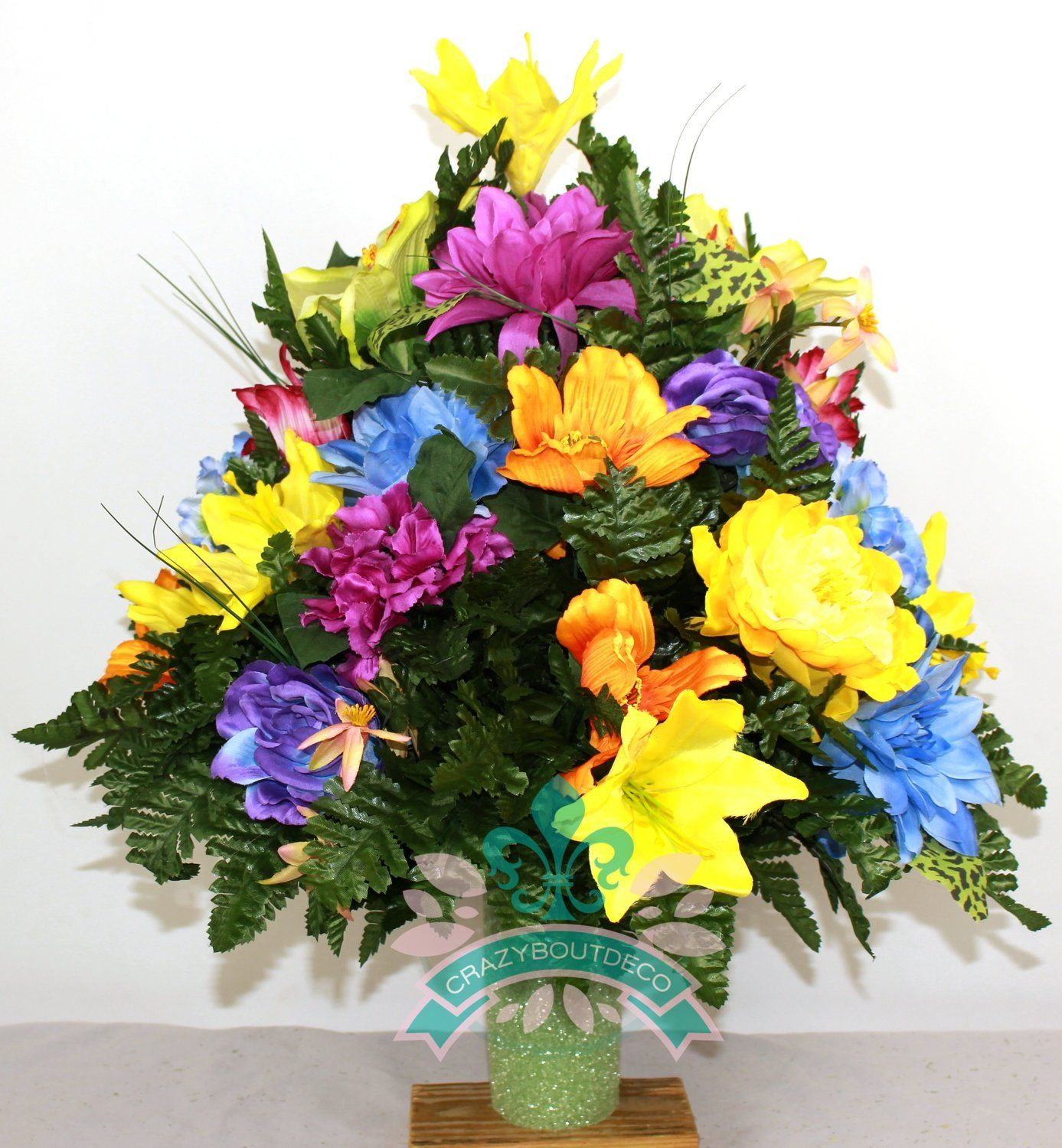 Stay In the Vase Cemetery Flowers Of Beautiful Xl Spring Mixture Cemetery Vase Arrangement for 3 Inch with Regard to Beautiful Xl Spring Mixture Cemetery Vase Arrangement for 3 Inch Vase 42 99