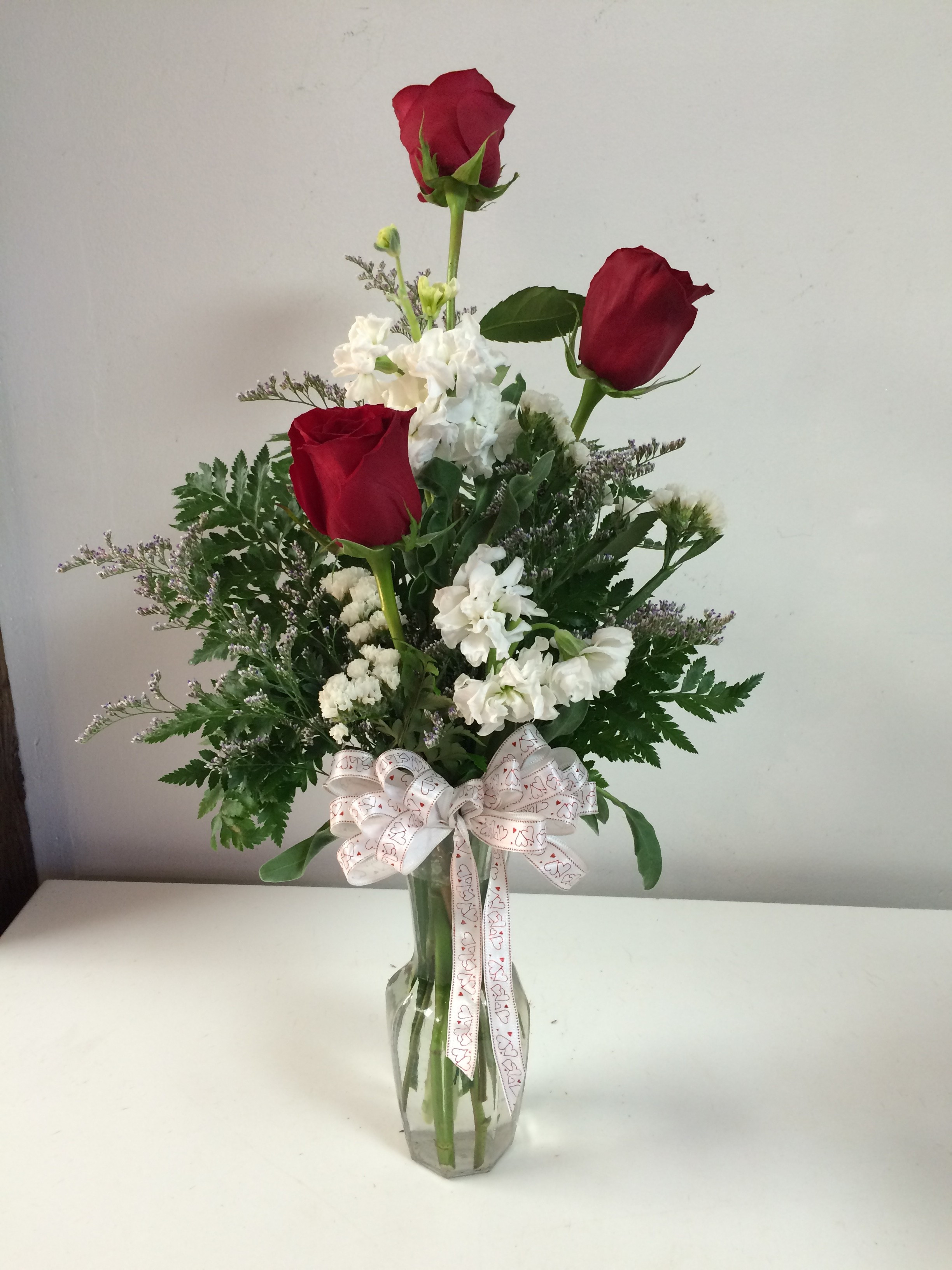 Stay In the Vase Cemetery Flowers Of Elk City Florist Flower Delivery by Broadway Flowers In Triple Roses
