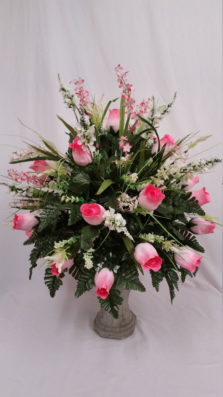 Stay In the Vase Cemetery Flowers Of the 24 Best Cemetery Vase Images On Pinterest Vase Cemetery and Ferns In Cemetery Vase Of 24 Beautiful Pink Rose Buds with White Snapdragons Pink All Arrangements are Full and Custom Designed