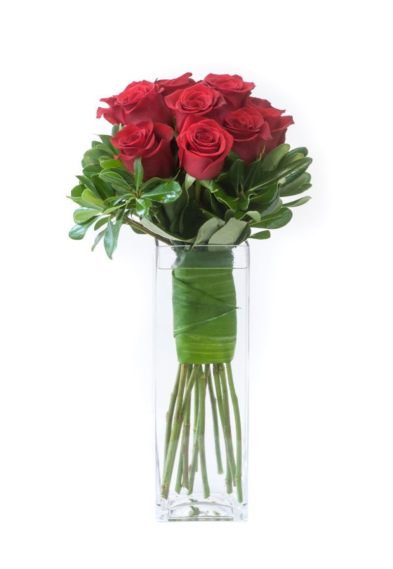 stemmed cylinder vases of tall rectangular vase pictures classic red roses a modern update intended for tall rectangular vase pictures classic red roses a modern update with leaf wrapped stems in a
