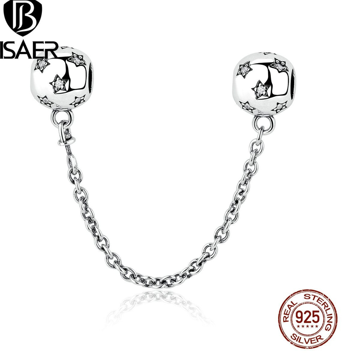 sterling silver vase engraved of a'Ž‰925 sterling silver star silver safety chain charms fit bisaer with 925 sterling silver star silver safety chain charms fit bisaer women diy bracelets accessories weus349