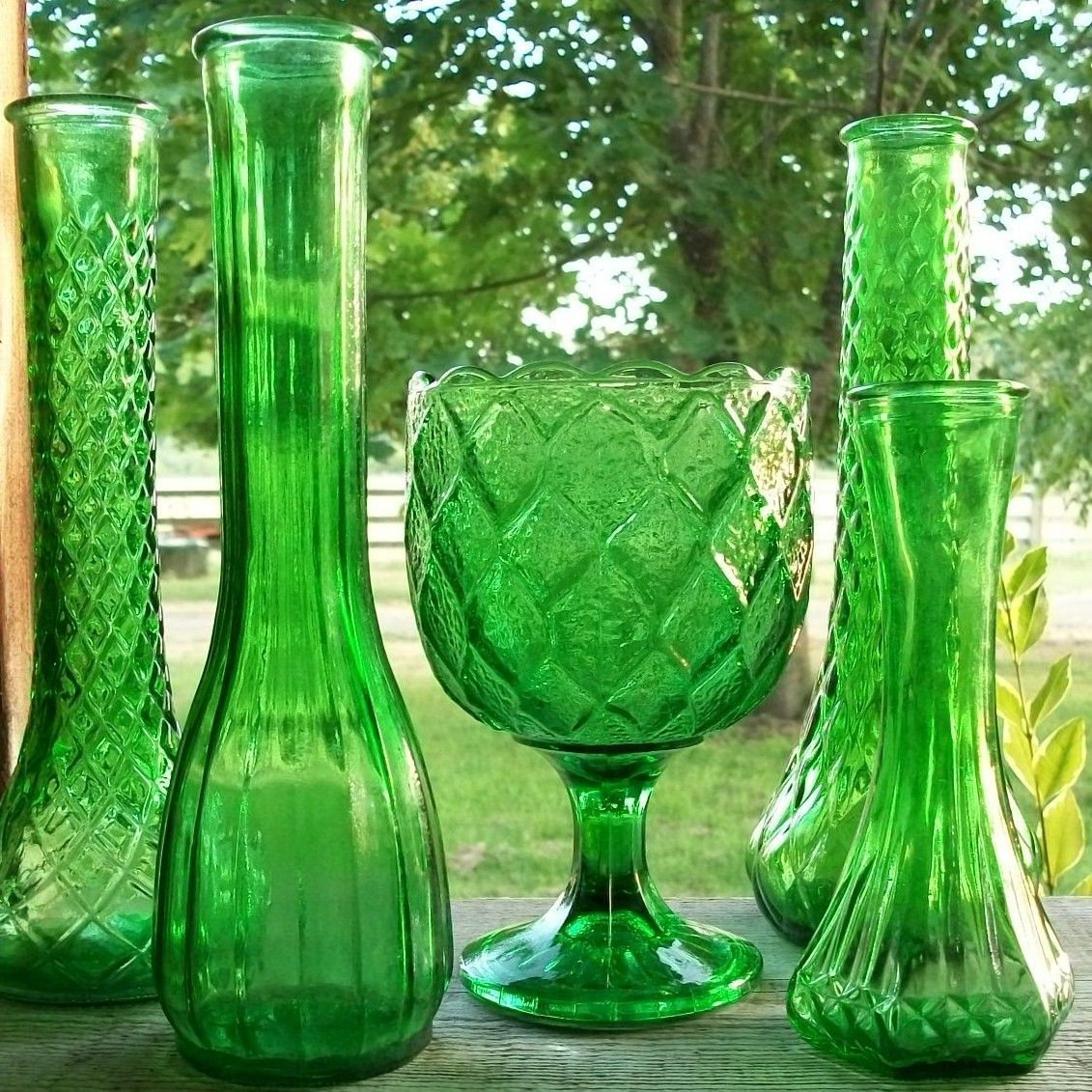 steuben teardrop bud vase of set of 5 vintage emerald green vases and planter wedding with regard to emerald green glass vases green vase emerald green emerald city shades of green