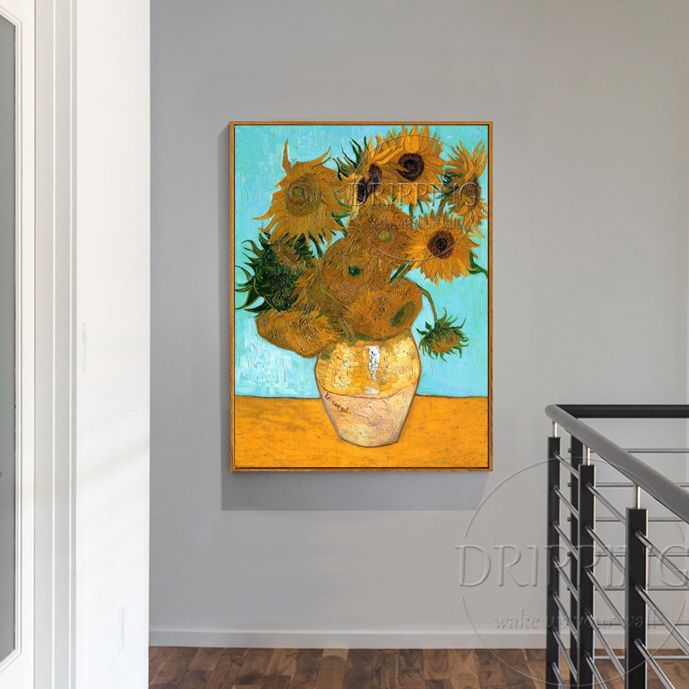 still life flowers in a vase of top artist team hand painted impressionist sunflower oil painting intended for top artist team hand painted impressionist sunflower oil painting van gogh still life vase with twelve sunflowers oil painting in painting calligraphy