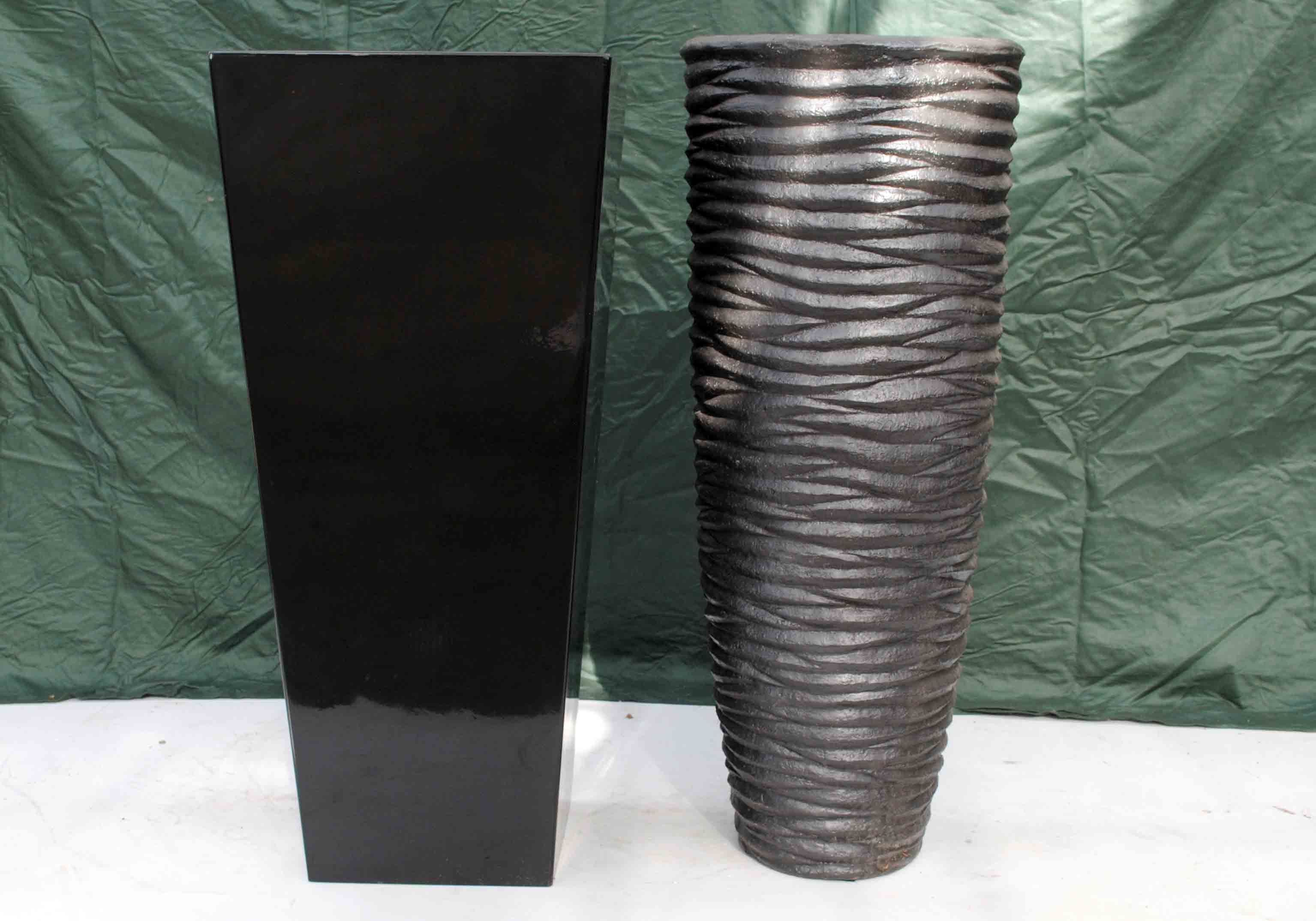 stone vases for sale of tall black fibreglass and black stone effect planters grand spring with regard to tall black fibreglass and black stone effect planters