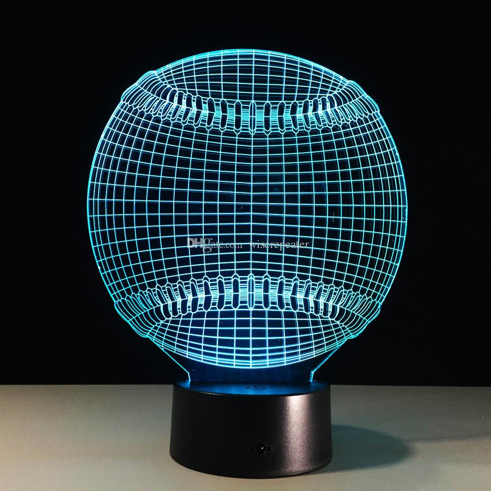 submersible led lights for eiffel tower vases of 2017 cool 3d baseball lamp gift night light 7 rgb lights dc 5v usb with regard to 2017 cool 3d baseball lamp gift night light 7 rgb lights dc 5v usb charging aa battery dropship 3d light 3d lamp 3d illusion lamp online with 17 49 piece