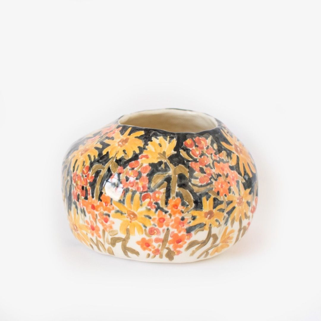 sunflower ceramic vase of illustrated ceramic pieces capture the spontaneity of a sketchbook inside illustrated ceramics by leah goren