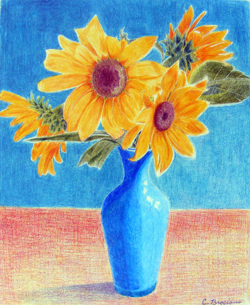 11 Recommended Sunflowers Blue Vase 2021 free download sunflowers blue vase of sunflowers in a blue vase with regard to sunflowers in blue vase by caribrosious on deviantart