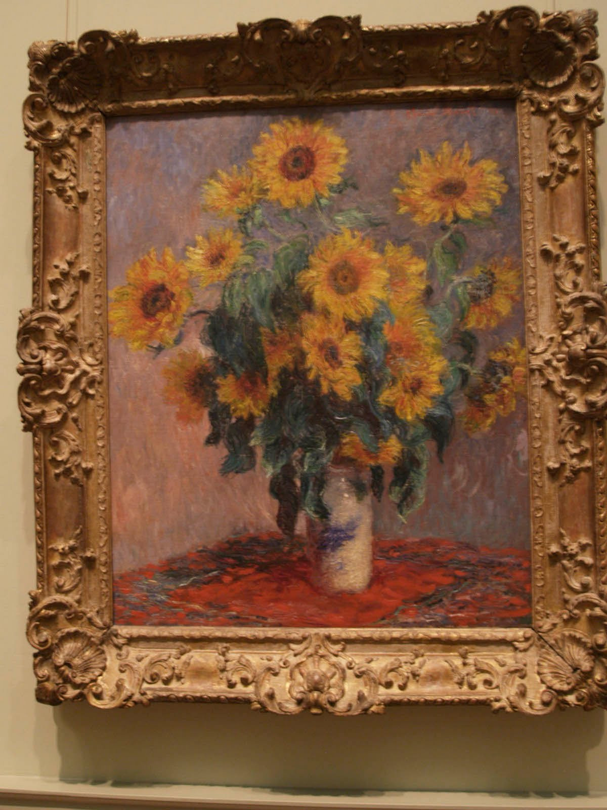 Sunflowers In A Vase Van Gogh Of the Art Of Painting September 2010 for Bouquet Of Sunflowers 1881 Metropolitan Museum Of Art New York City