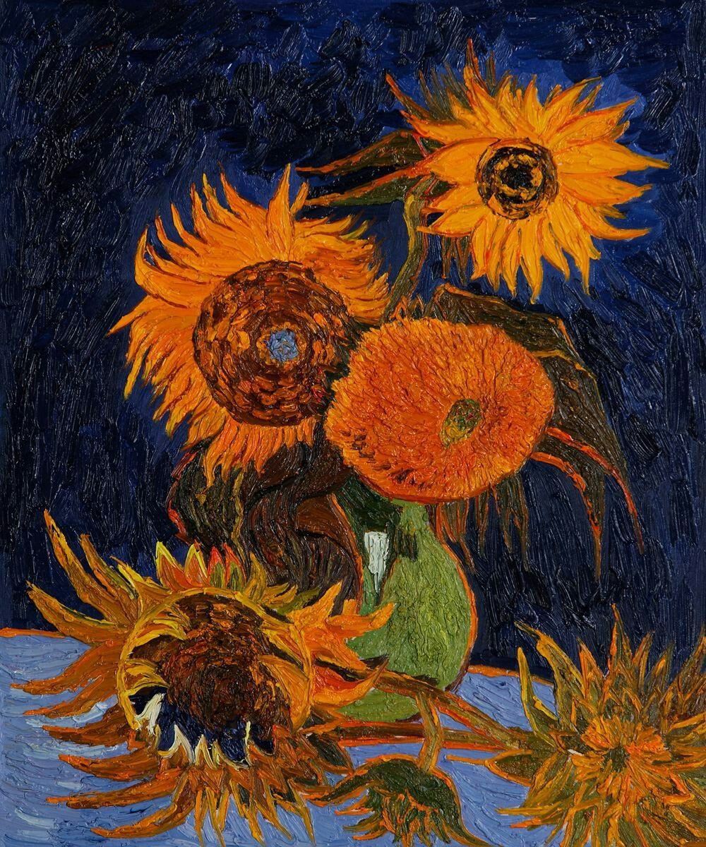 sunflowers in a vase van gogh of vincent van gogh sunflowers pinterest van gogh vans and paintings regarding vincent van gogh