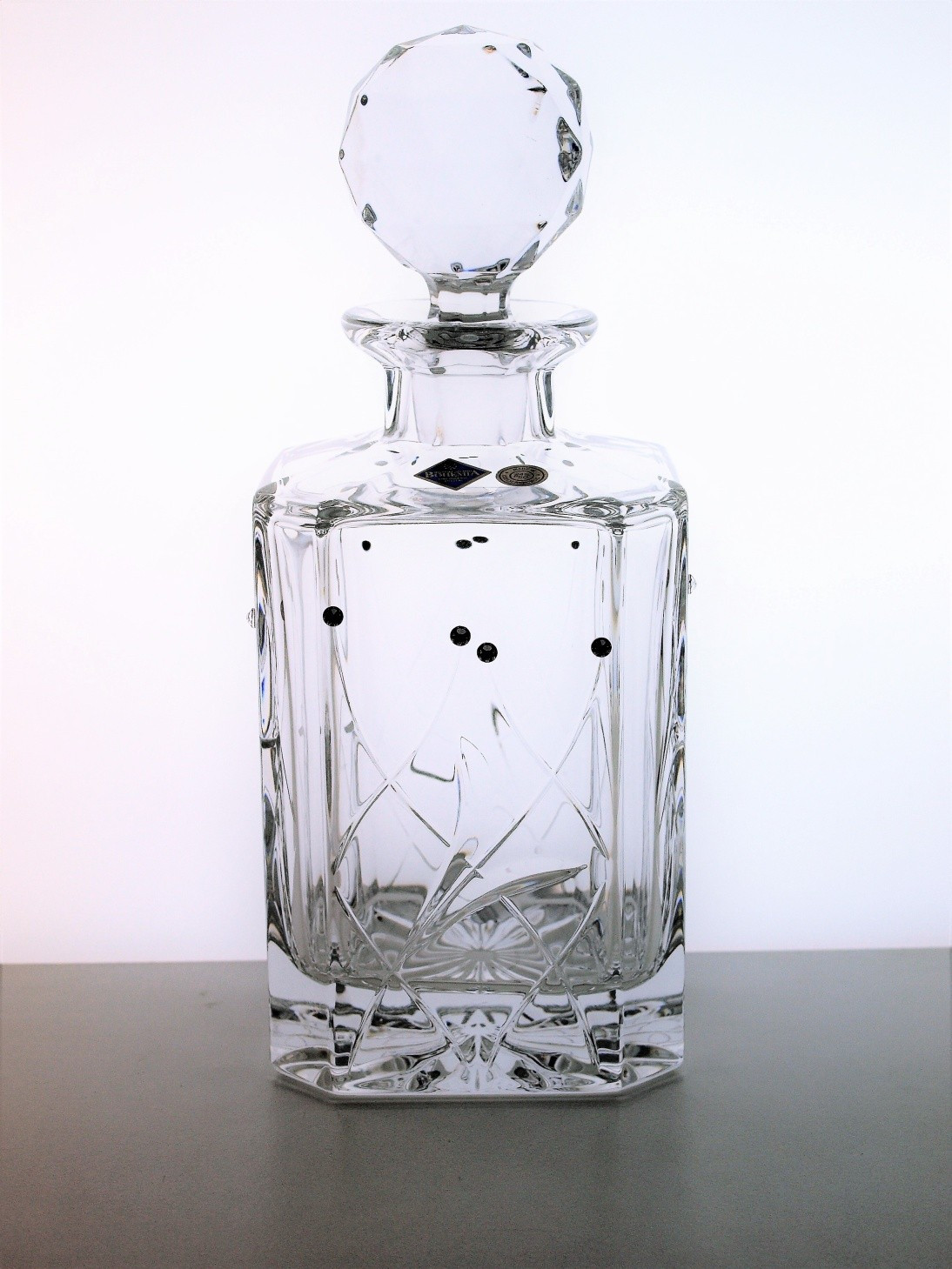 swarovski crystalline vase of whisky decanter cut with swarovski crystals within whisky decanter fiona cut swarovski crystals