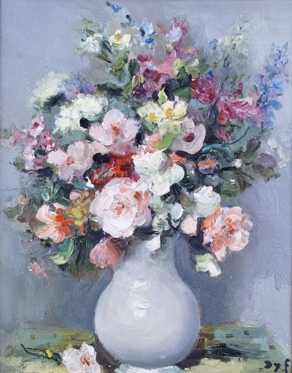 swarovski vases sale of marcel dyf wild flowers in a vase art pinterest marcel intended for wild flowers in a vase artwork by marcel dyf oil painting art prints on canvas for sale