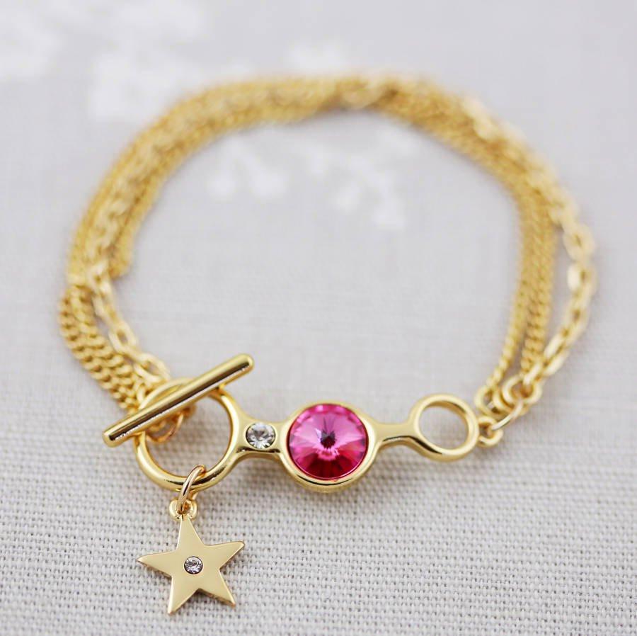 swarovski vases sale of t bar crystal bracelet by js jewellery notonthehighstreet com inside t bar gold rose pink