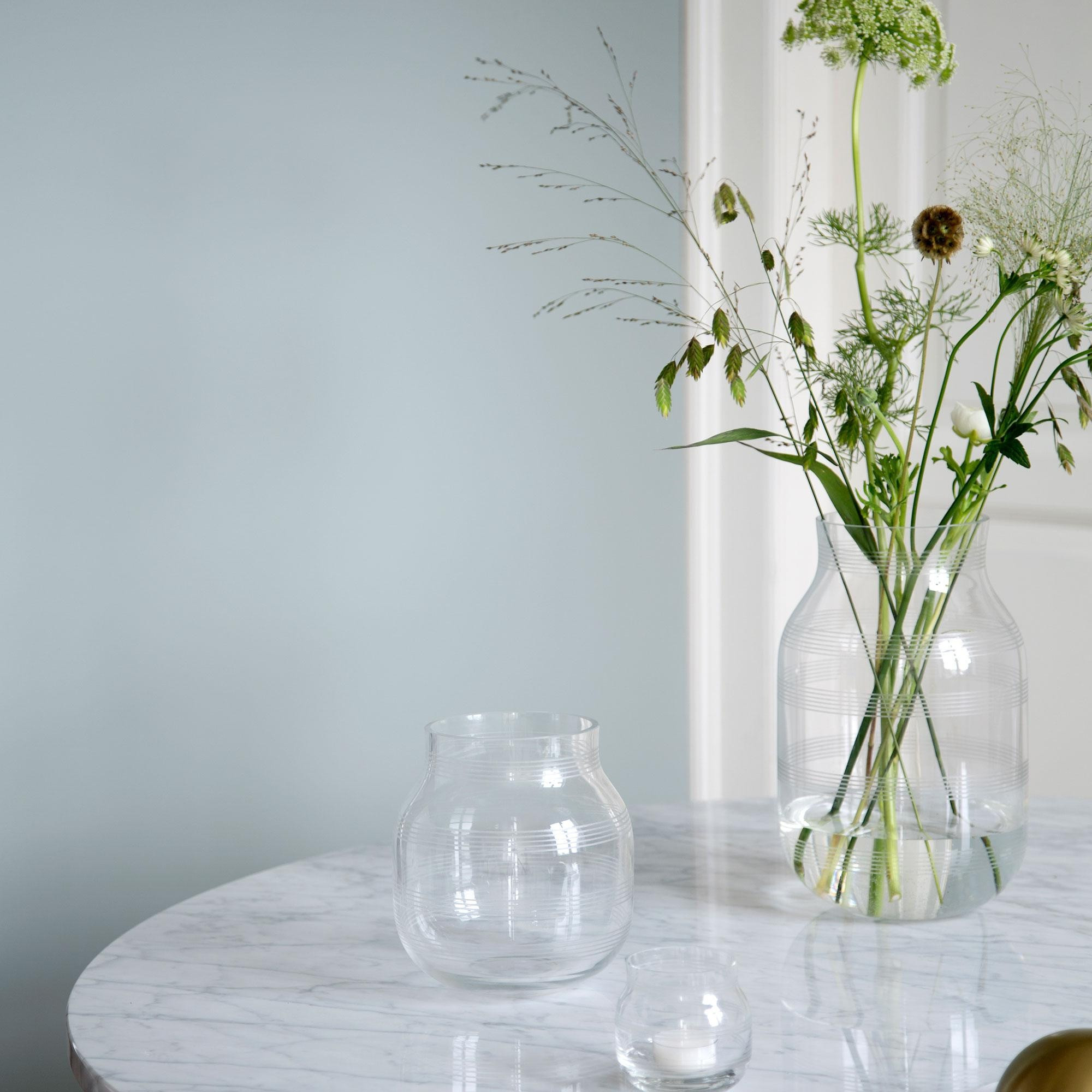 swedish glass vase of ka¤hler omaggio glass vase h 17cm ambientedirect in all prices including vat plus shipping cost