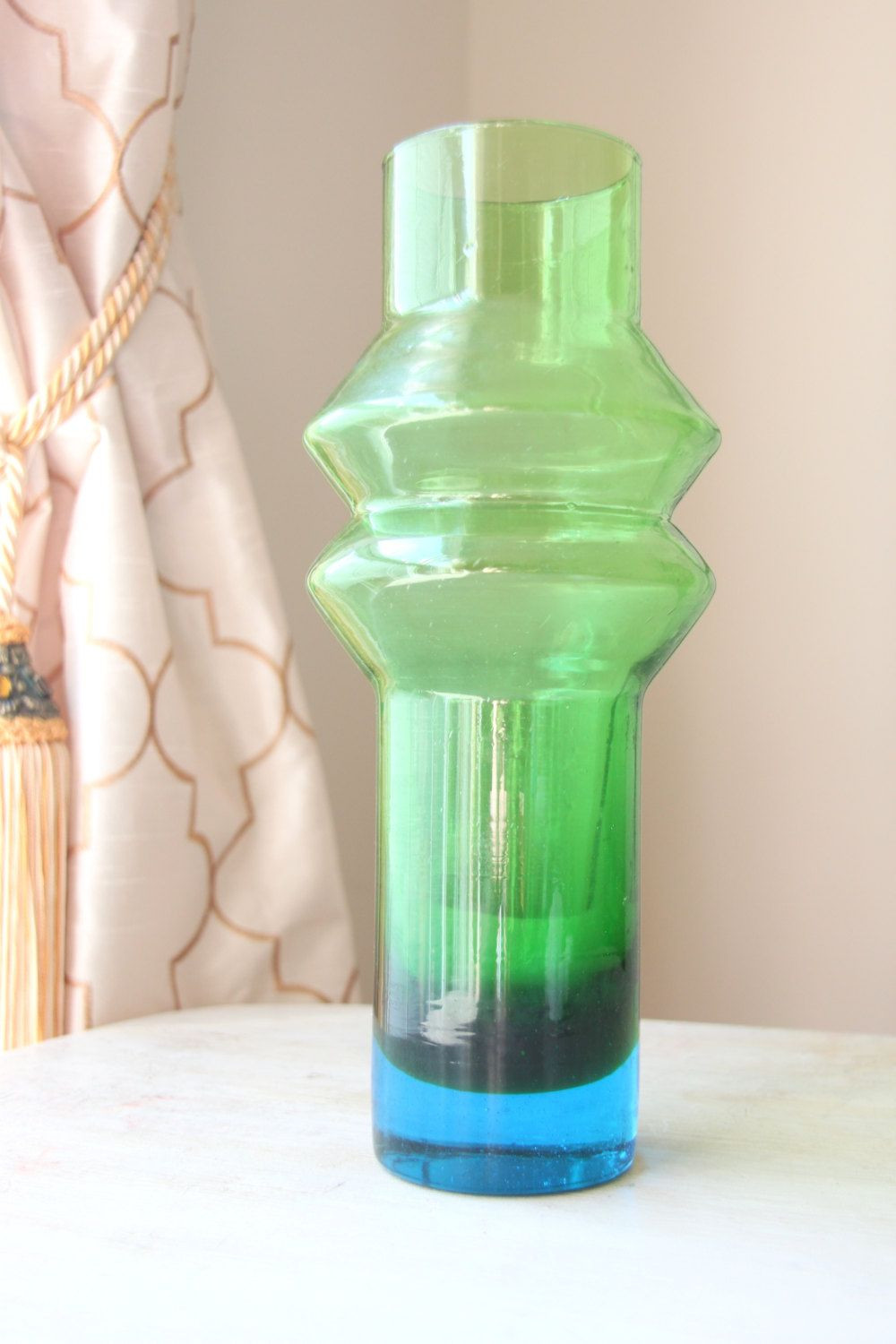 swedish glass vase of midcentury aseda bo borgstra¶m hooped glass vase 85 00 rare color within midcentury aseda bo borgstra¶m hooped glass vase 85 00 rare color swedish scandinavian green with blue cased glass mold blown vase wth 1227 by