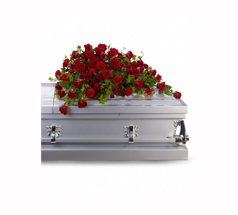 Sympathy Cross Vase Of Sympathy Flowers Funeral Flowers Sprays Casket Flowers Throughout Red Rose Reverence Casket Spray