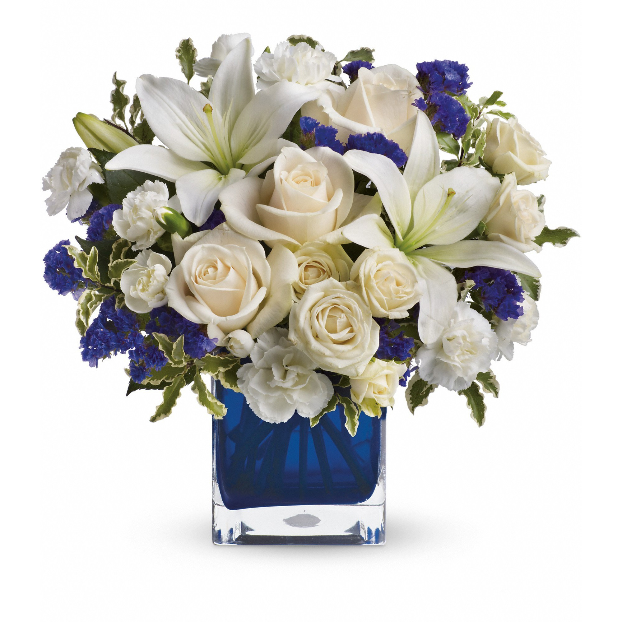 sympathy cross vase of telefloras sapphire skies bouquet tev25 3a in frederick md amour pertaining to telefloras sapphire skies bouquet tev25 3a