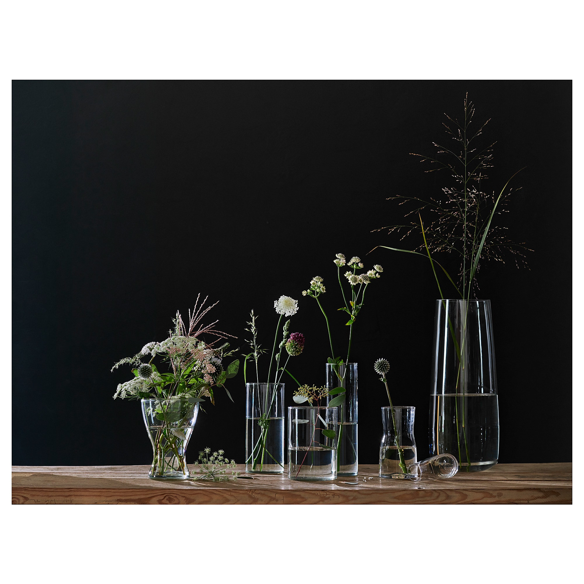 tall clear flower vases of cylinder vase set of 3 ikea within 0610772 ph149182 s5 jpg