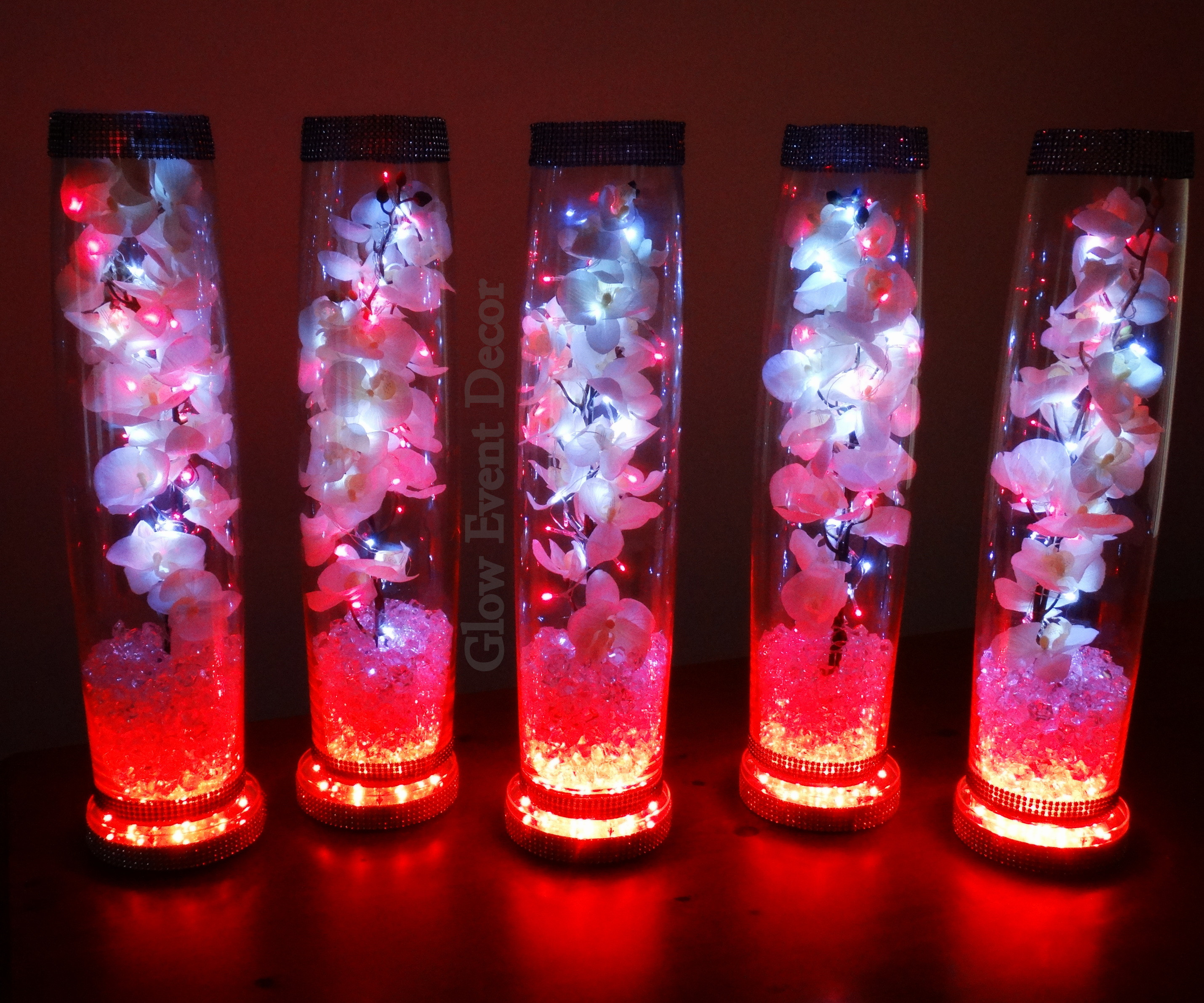 tall cylinder vases for wedding centerpieces of led orchid cylinder vase glow event decor with regard to cylinder vase trio submerged lillies gyp sophlia bablies breath crystal garland for b