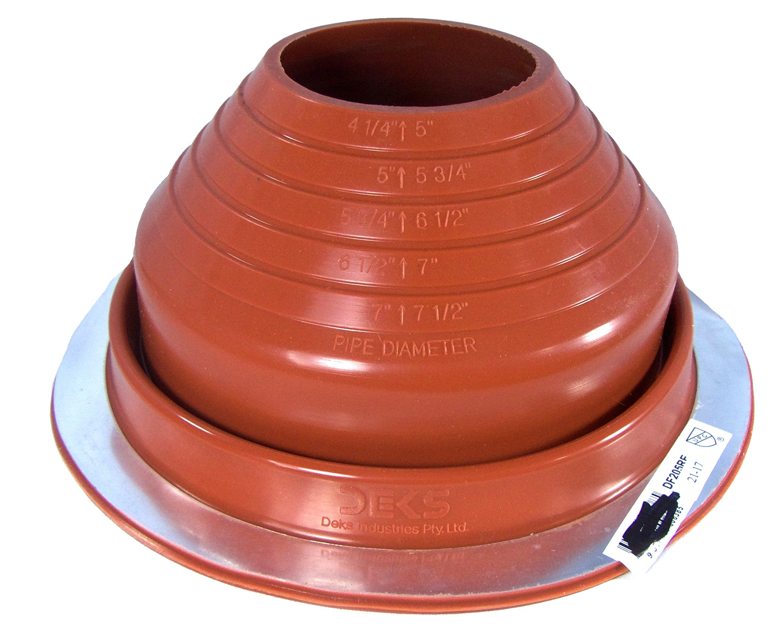 Tall Floor Vases Amazon Of Best Rated In Roof Flashings Helpful Customer Reviews Amazon Com for Dektite 5 Red Silicone Metal Roof Pipe Flashing Round Base Pipe Od 4 1 4 7 1 2