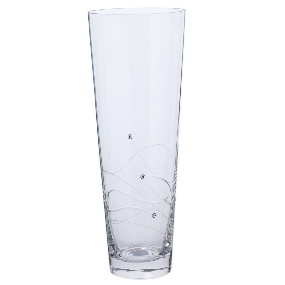 tall fluted glass vase of large dartington crystal tall conical glass vase weddinghomeparty for large dartington crystal tall conical glass vase weddinghomeparty vintage gift ebay