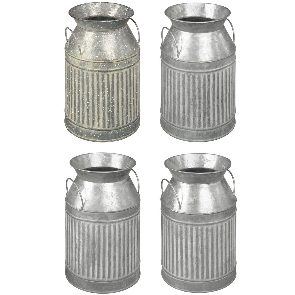 tall glass cylinder vases michaels of buy the assorted small galvanized milk can by ashlanda at michaels for img