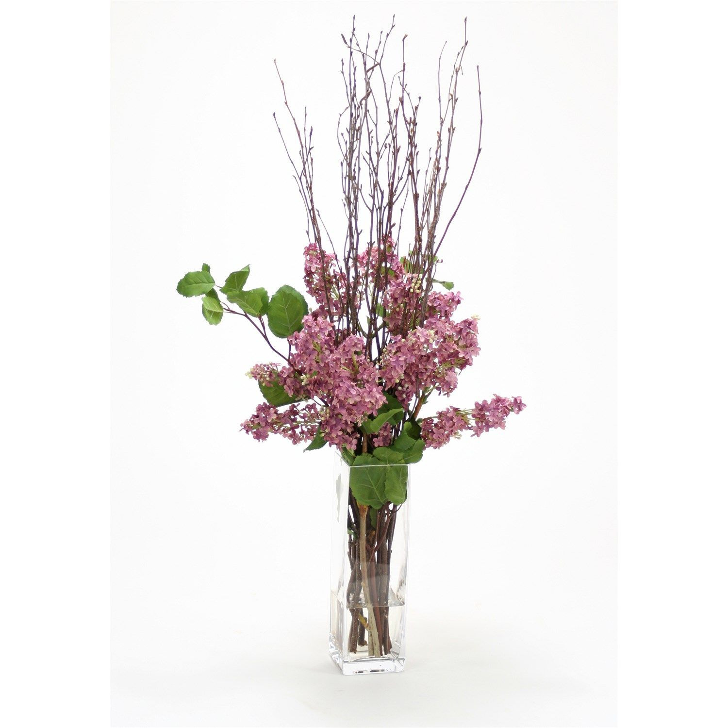 tall glass flower vases buy of distinctive designs 15747a waterlook silk blue purple lilacs elm inside distinctive designs 15747a waterlook silk blue purple lilacs elm and natural birch in a tall