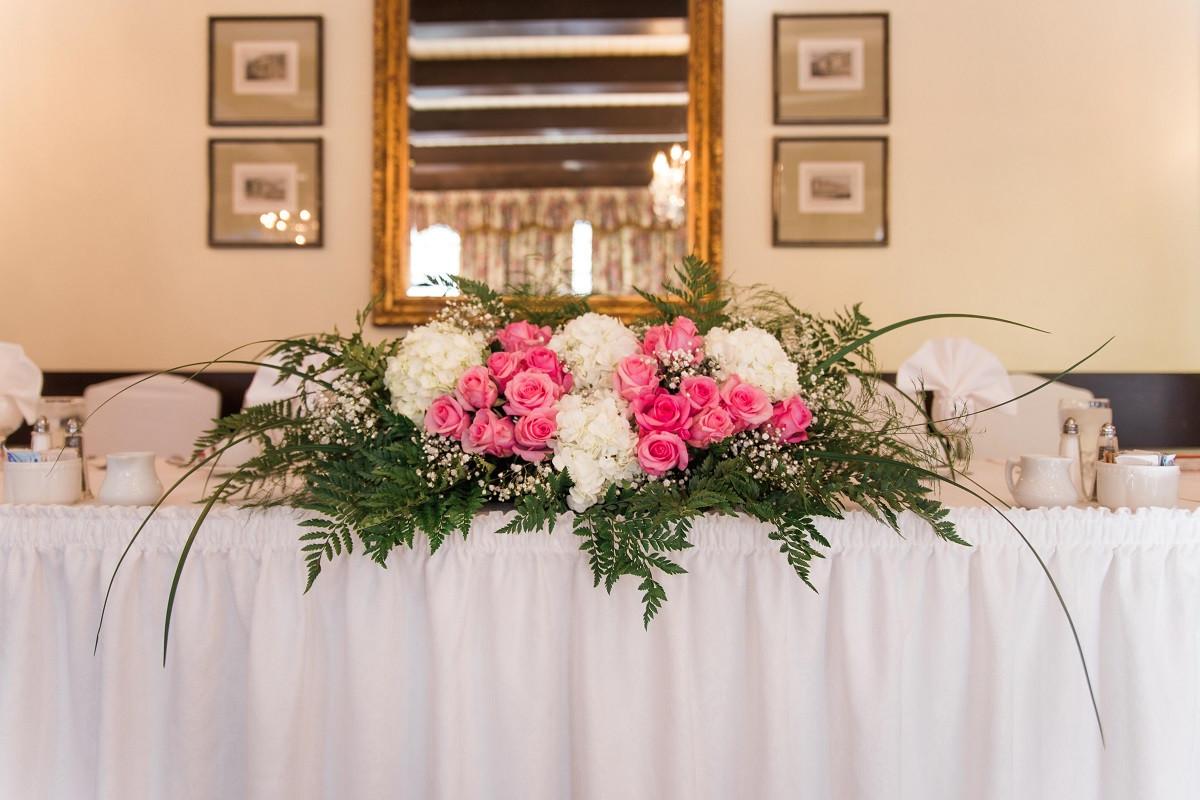 tall glass vase arrangements of romantic pink white head table arrangement aܠ oakville wedding with regard to oakville wedding flowers